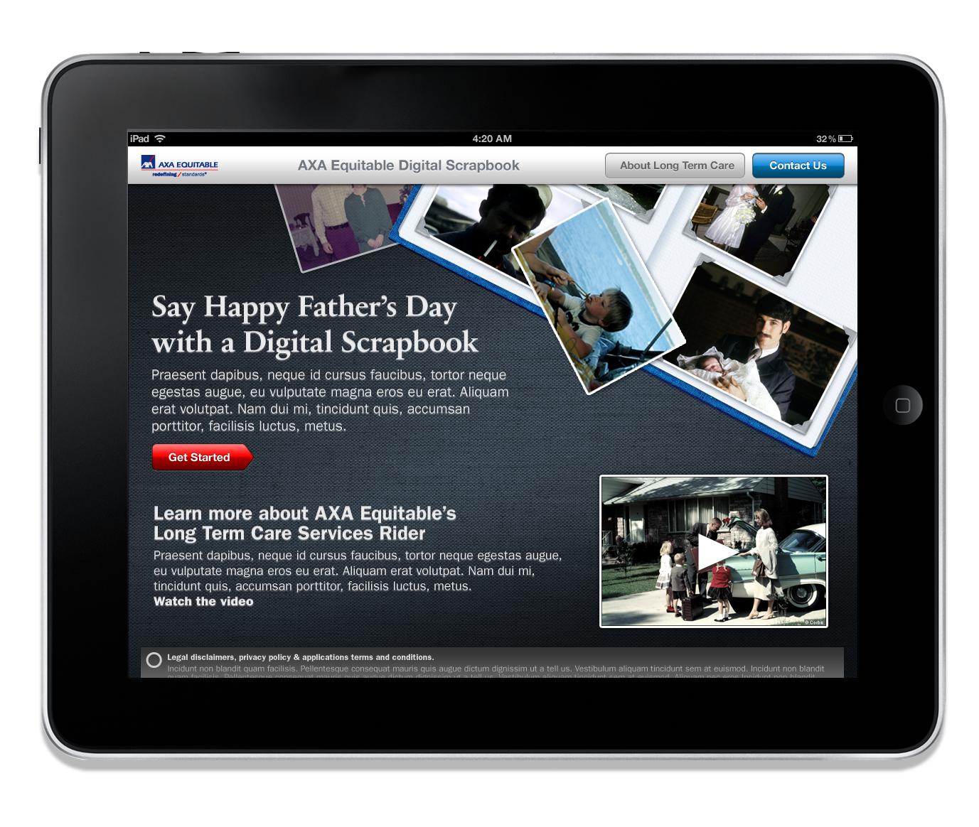 Axa Equitable Scrapbook App Darren Newton Creative Services